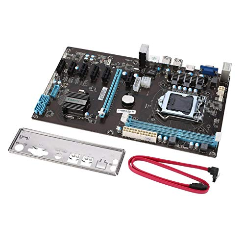 Heraihe Motherboard Mainboard, B85 BTC Mining Motherboard PCI-E Extender Riser Board High Speed PCI Express 16x Riser 6pcs PCI-E Extender Express Chipset