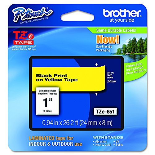 Brother Genuine P-Touch TZE-651 Tape, 1