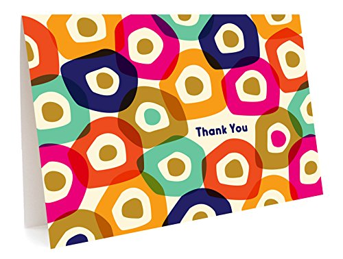 Night Owl Paper Goods Gummy Dots Folded Thank You Cards, Box Of 6