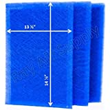 MicroPower Guard Replacement Filter Pads 16x16 Refills (3 Pack) BLUE
