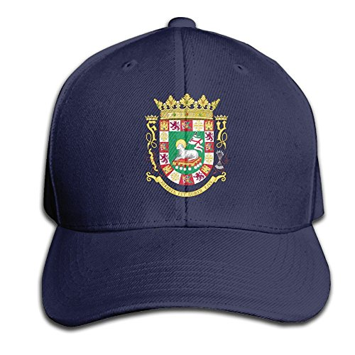 Coat of Arms of The Commonwealth of Puerto Rico Youth Sport Adjustable Baseball Cap