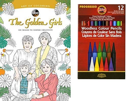 The Golden Girls Coloring Book 100 Images Inspire Oc2o
