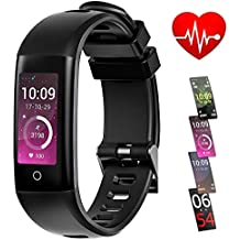 TEYO Fitness Tracker Watch, Activity Tracker with Heart Rate Monitor Sleep Monitor Step Counter,Color Screen Smart Pedometer Watch with Blood Pressure Monitor,IP67 Waterproof Smartband