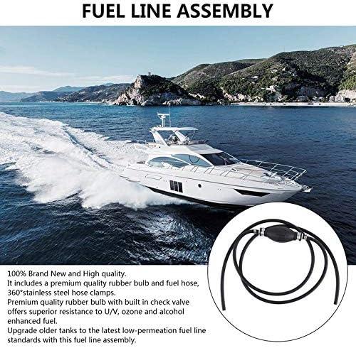 ArgoBa Conjunto de l/ínea de Manguera de Gas Combustible de Motor fueraborda Marino Universal de 6 mm con cebador Super Deals