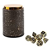 Homyl 7PCS Metal Polyhedral Dice D4-D20 for Dungeons and Dragons Board Game Accessories &Dice Cup #3