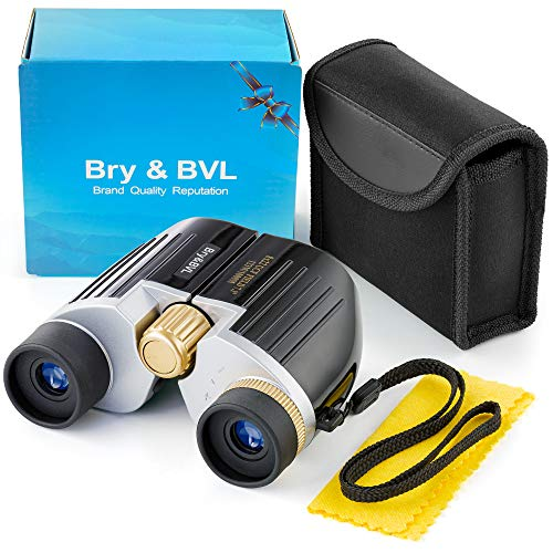 Kids Binoculars for Bird Watching - Spy Gear for Kids - Compact, Shockproof - 8X22 Binoculars for Kids, Waterproof - Best Gift for Boys, Girls - High Resolution - Real Optics for Outdoor Games - Black]()