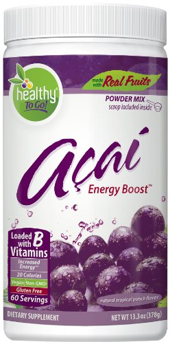 To Go Brands Acai Energy Boost 60 Serving Canister