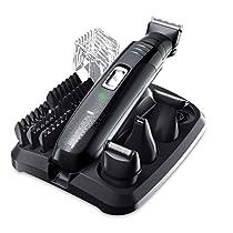 Remington PG6130 Groomkit - Kit multifunción para cortapelos corporal, cuchillas con revestimiento de titanio autoafilables, cuatro cabezales, inalámbrico