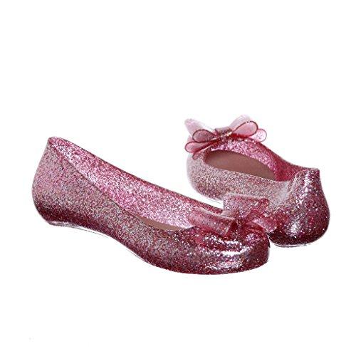 Glitter Jelly Flat Fuchsia
