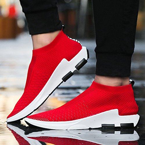 Uomo Rosso Outdoor Sneakers Madaleno Sportive all'aperto Tennis Scarpe Basse 1 Running Ginnastica da Corsa corsa Respirabile U6B6wqd