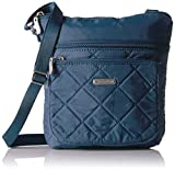 quilted baggallini - Baggallini Quilted Pocket Crossbody with Rfid, Slate Quilt
