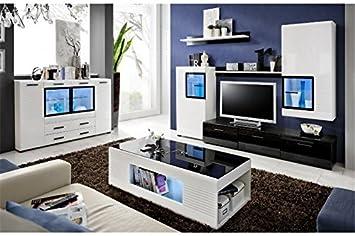 Meuble Tv Design Mural Mete Noir Et Blanc Amazonfr Cuisine Maison