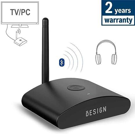 Besign BE-TX Transmisor Bluetooth para TV, Adaptador de Audio Inalámbrico con aptX Baja Latencia, Admite Digital Coaxial, Óptica y 3.5mm de Audio, Conexión con Auriculares/Altavoces Bluetooth: Amazon.es: Electrónica