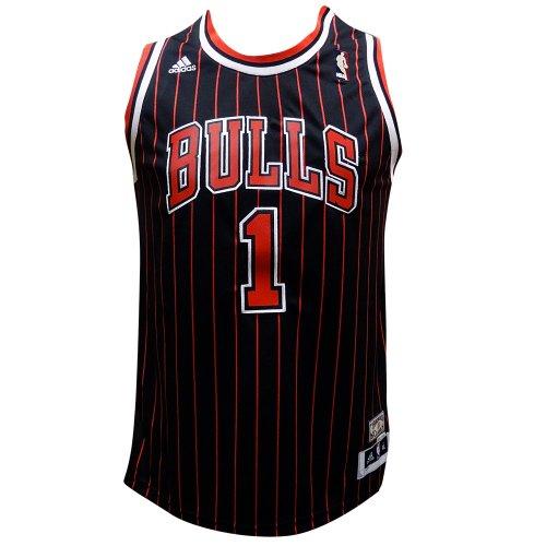 ... wholesale amazon adidas derrick rose 1 chicago bulls youth black  pinstripe swingman jersey yth s sports 7822e521d