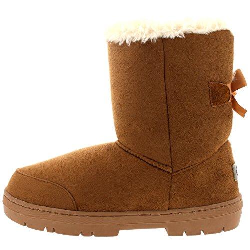Inverno Stivali Hobbie Impermeabile Tan Classico Alto Arco Donna Un Holly Pelliccia Pioggia Neve PRnxwF8qU