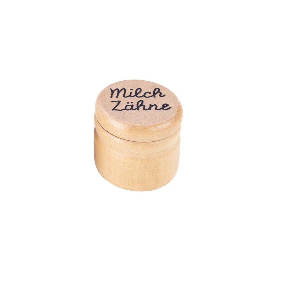Goki GK202 Milchzahn-Dose aus Holz 12 St/ück Natur /Ø 4 x 3 cm