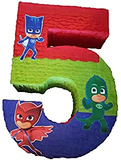 Number pinata inspired by PJ Masks