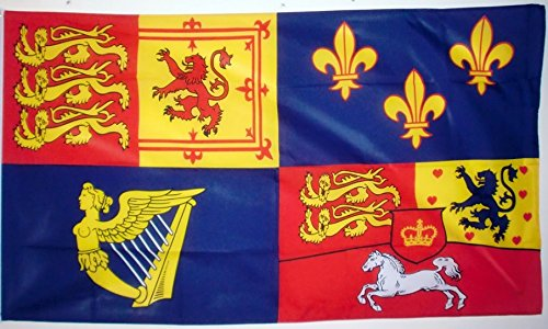 Royal Banner 1714-1801 House Of Hanover Flag 5ft x 3ft Large - 100% Polyester - Metal Eyelets - Double Stitched