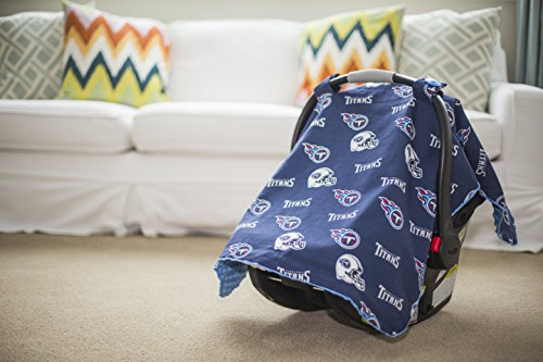 (Carseat Canopy NFL Tennessee Titans Baby Infant Car Seat Cover )
