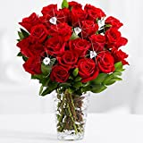 ProFlowers - Diamonds and Roses (with FREE glass vase) - Flowers