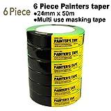 6 Rolls Multi use Painters Masking Tape,Multi use,Office Tape,School Tape,Painters Tape,Paint Roller,Masking Tape,Paint Masking Tape,0.94-Inch by 54.6 Yards, 50002A