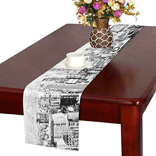 (AIKENING New York City Empire State Buildings Downtown Downtown NYC Towers Table Runner, Kitchen Dining Table Runner 16 X 72 Inch for Dinner Parties, Events, Decor )