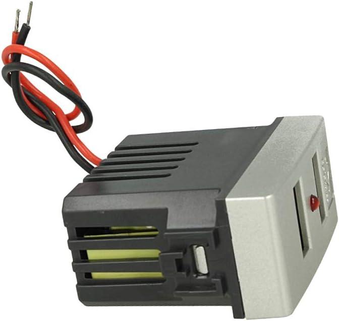 SANDASDON SD41760T Modulo Caricatore USB X2 Da Muro 2 Porte USB 5V 2,1A Grigio Compatibile Bticino Living