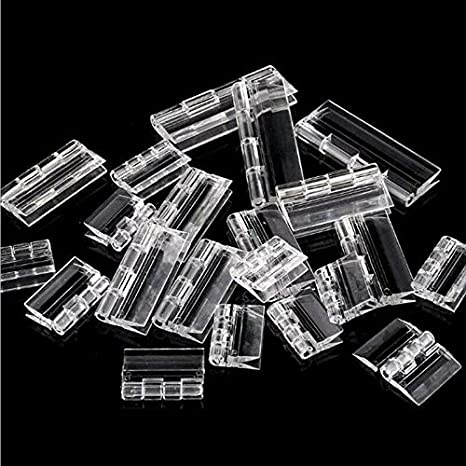 pianoforte Cerniere per porta in plastica acrilica resistente per porte trasparente 25 mm-300 mm Supertool misura L//M//S armadi e pianoforte 10 pezzi trasparenti
