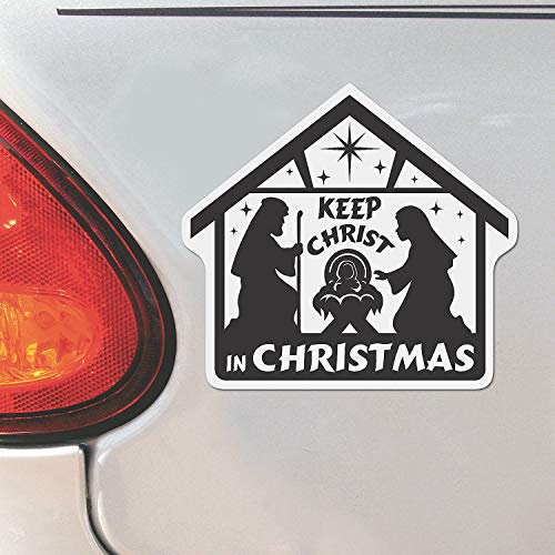 Fun Express - Nativity Car Magnet With Message for Christmas - Party Decor - General Decor - Car Decor - Christmas - 12 Pieces (General Christmas Messages)