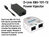 D-Link 1 Port Power Injector (EBU-101-T2) including AC power supply. Supports 10/100/1000 ethernet speeds.