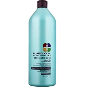 Pureology | Strength Cure Strengthening Conditioner | For Damaged, Color Treated Hair | Sulfate-Free | Vegan |