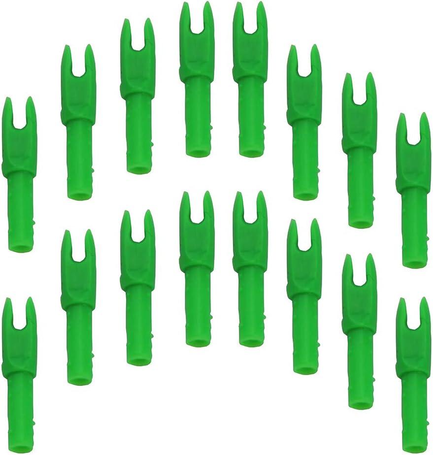 UP100 50 pcs Transparent Red//Green//Blue Archery Nock Arrow Shaft G Nocks Small Groove .088