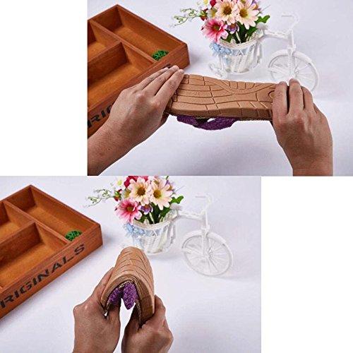 [Slip On Slipper lino algodón] Happy Lily antideslizante primavera Open Toe sandalia de verano para adulto Beige