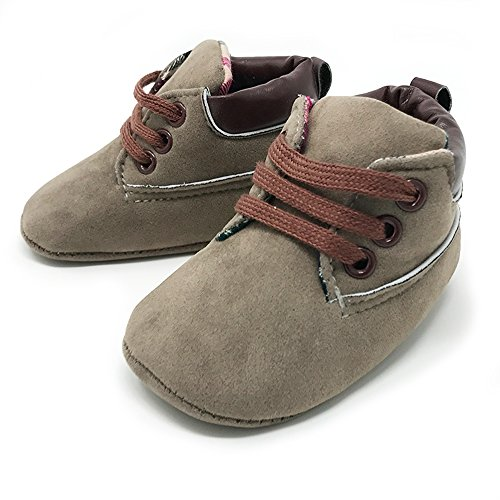 rs Baby Boys and Girls Soft Soled Crib Shoes PU Sneakers - Olive Boots (for ages 0-6 months/11 cm. length) (Baby Phat Shoes Boots)