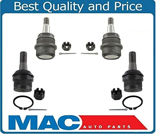 Mac Auto Parts Fits for 00-01 4 Wheel Drive Dodge Ram 1500 4x4 Upper & Lower Ball Joints 4pc