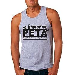 Men's PETA Sport Grey Tank Top (Small)