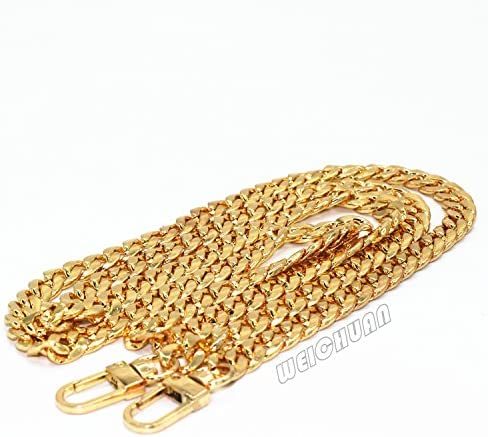 with Metal Buckles M-W 47 Iron Flat Chain Strap Handbag Chains Accessories Purse Straps Shoulder Cross Body Replacement Straps Gold
