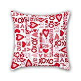 PILLO love pillow shams 20 x 20 inches / 50 by 50 cm gift or decor for living room,bedding,office,seat,christmas,son - double sides