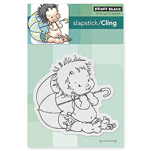 Penny Black 40-294 Baby Shower Sheet Cling Rubber Stamp 4 by 6-Inch