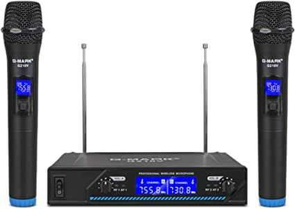 G Mark G210v Wireless Microphone Professional 2 Channel Karaoke Mic For Party Singing Church Show Home Electronics Amazon Com