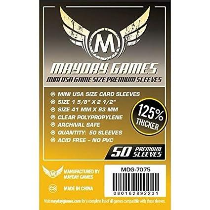 Mayday Juegos 41 x 63 mm Mangas Mini Estados Unidos Premium – Juego de Cartas (Pack de 50)