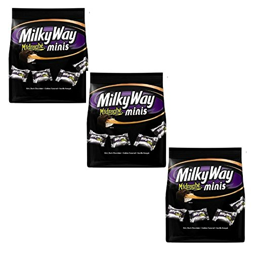 (Milky Way Midnight Dark Chocolate Minis Size Candy Bars Bag, 8.9 Oz (Pack of 3))