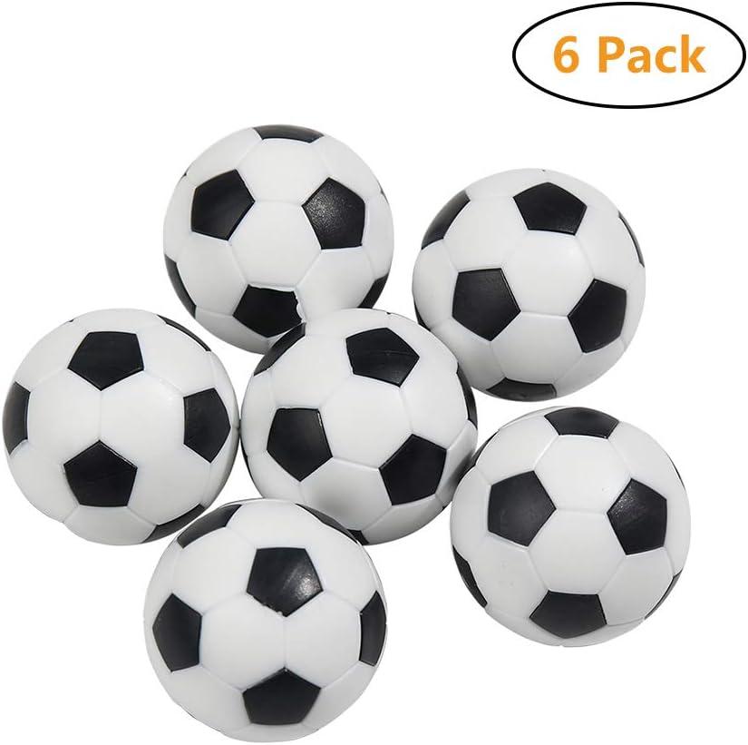 Ibsenon Reemplazo 6pcs Mini Balones De Fútbol Bola De Plástico De ...