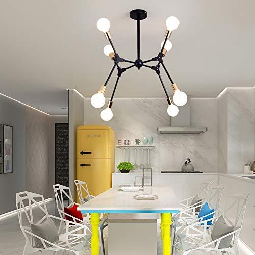 Nordic Creative Chandelier, E27 Iron Ceiling Light Living Room Restaurant Bedroom Lighting