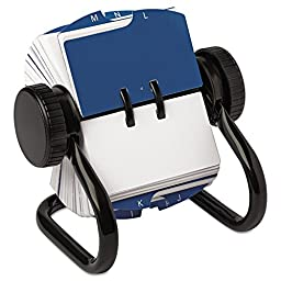 Rolodex 66700 Open Rotary Card File Holds 250 1 3/4 x 3 1/4 Cards Black
