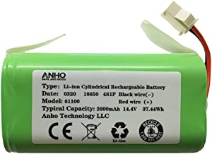 AnhoTech Replacement Battery for Shark Ion RV720, RV750, RV700, Coredy R500, R300, R650, R750 and Amarey A800, A900 Robot Vacuum Cleaners, 2600mAh, 14.4v (3 Prongs)