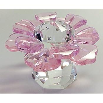 Amazon oleg cassini crystal flower paperweight gift boxed oleg cassini crystal fleur pink flower paperweight figure mightylinksfo