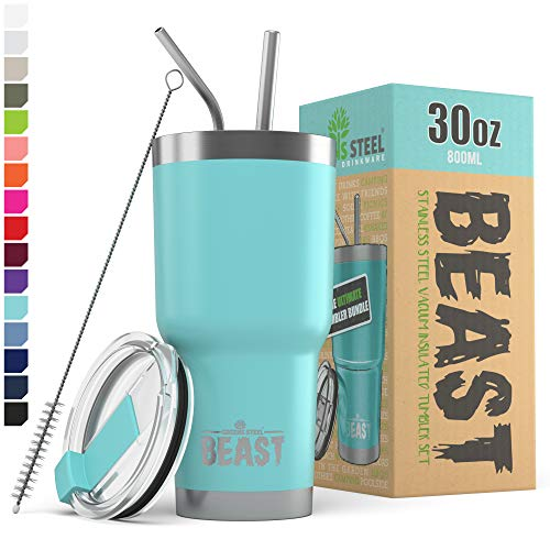 Greens Steel Beast Tumbler Stainless Steel Vacuum Insulated Coffee Ice Cup Double Wall Travel Flask
