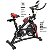 XtremepowerUS Indoor Cycle Trainer Fitness Bicycle Stationary (Red and black) XtremepowerUS