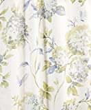 "Simple Comfort Abigail Traditional Hydrangea Floral Print (Shower Curtain, 72 x 72"", Porcelain)"